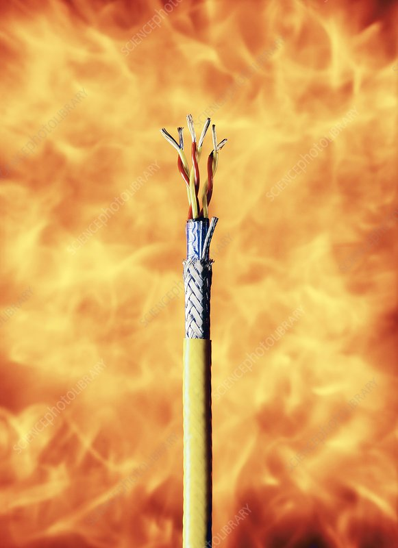 Flame-resistant cable