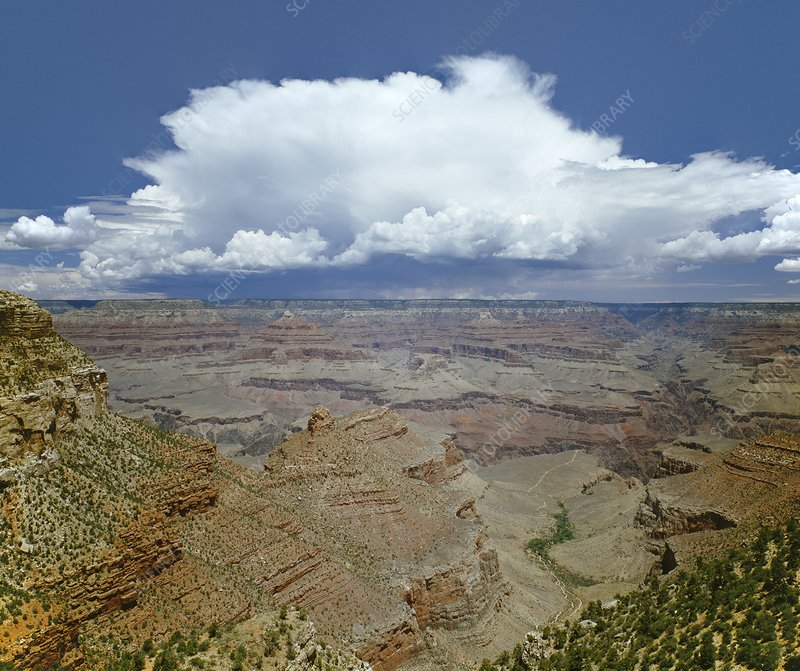 Grand Canyon with Thunderhead Cloud