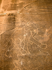Petroglyph of Running Elephant, Libya