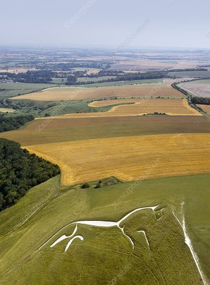 Uffington White Horse, Oxfordshire, UK