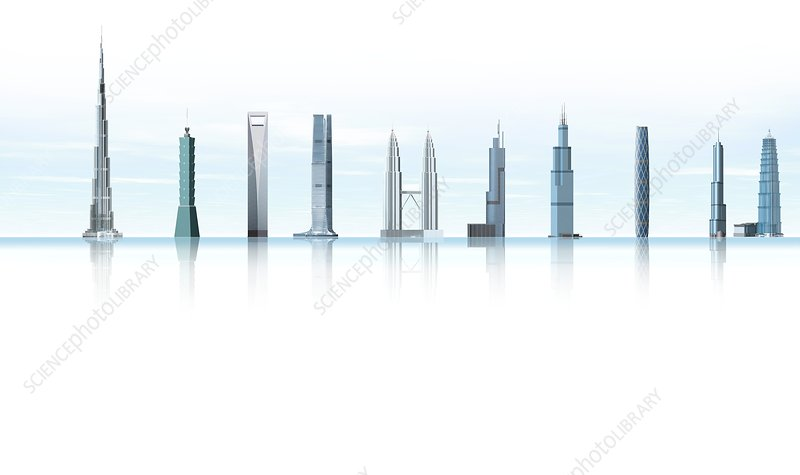 World's tallest buildings, artwork