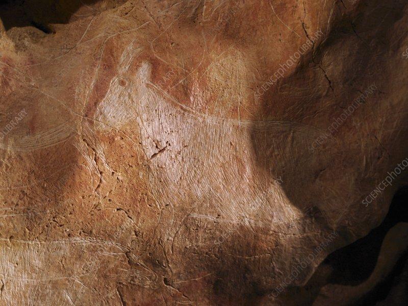 Stone-age cave art, Asturias, Spain