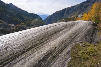 Glacial striation, Switzerland