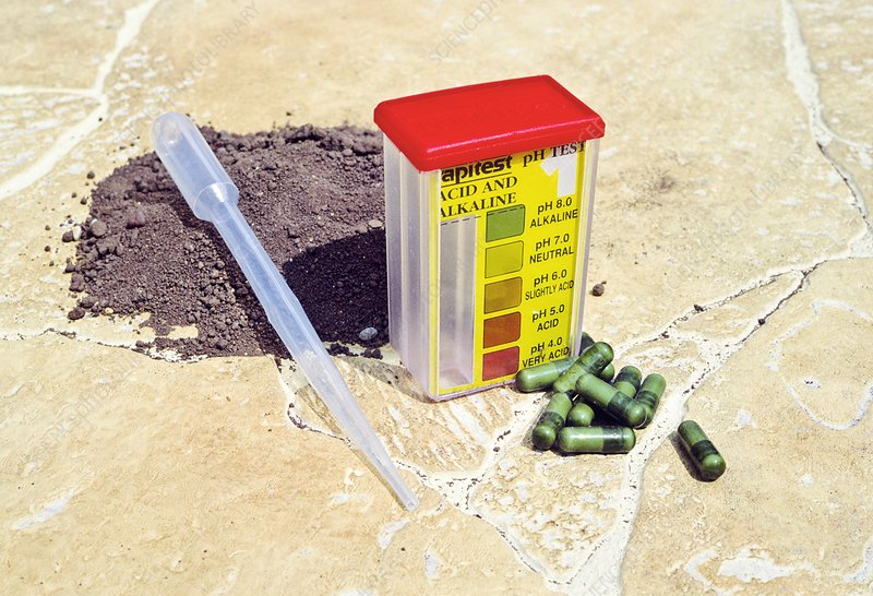 Soil ph test kit stock image c009 8152 science photo for Soil library