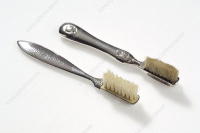 Two Edwardian toothbrushes