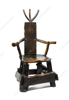 Barber-surgeons chair, 19th century
