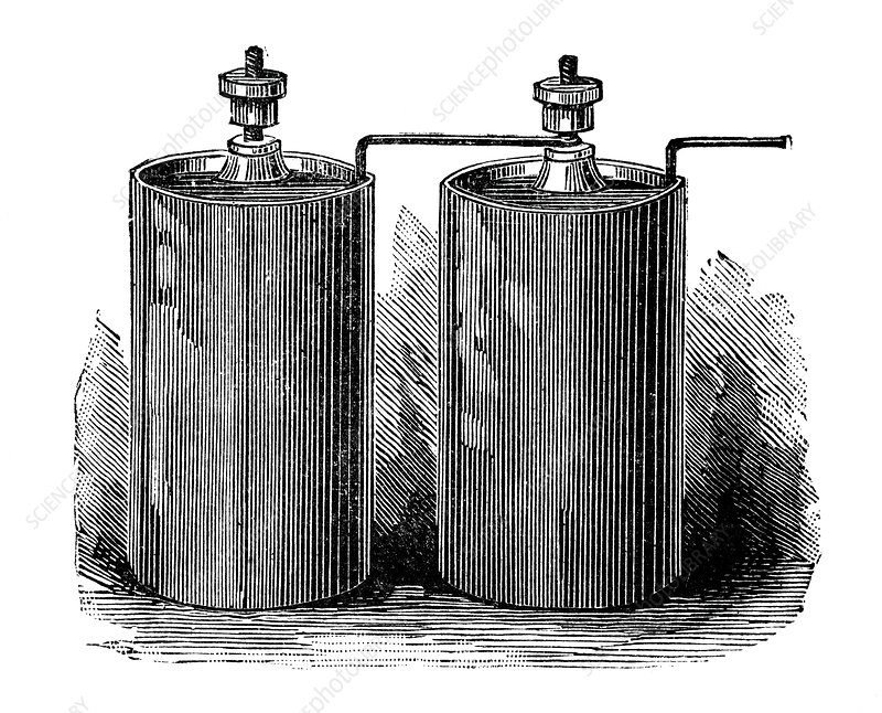 Electric batteries, 19th century