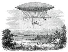 Giffard's steam airship, 1852