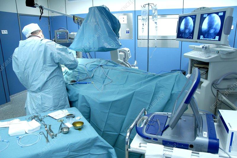 Heart pacemaker surgery