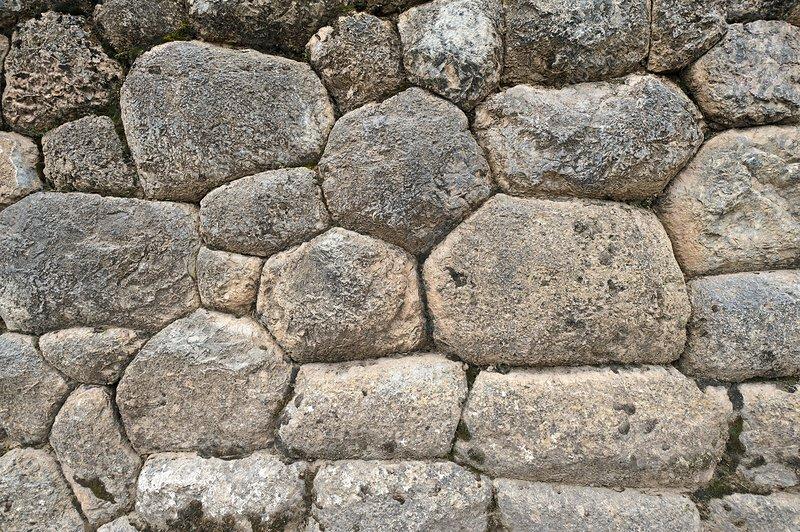 Inca wall, Pucapucara, Cusco
