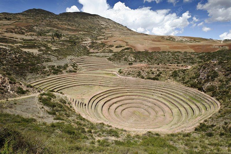 Inca agricultural terraces, Moray, Peru