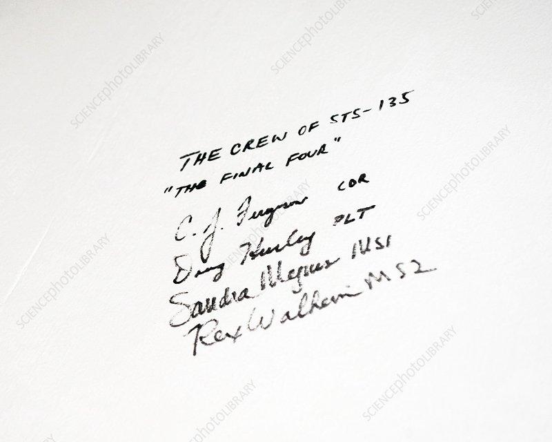 Final Space Shuttle crew signatures