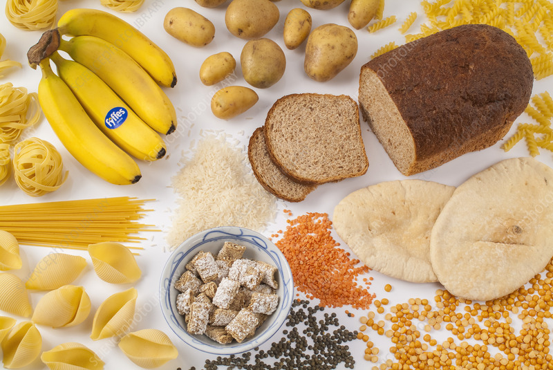 Food containing carbohydrates