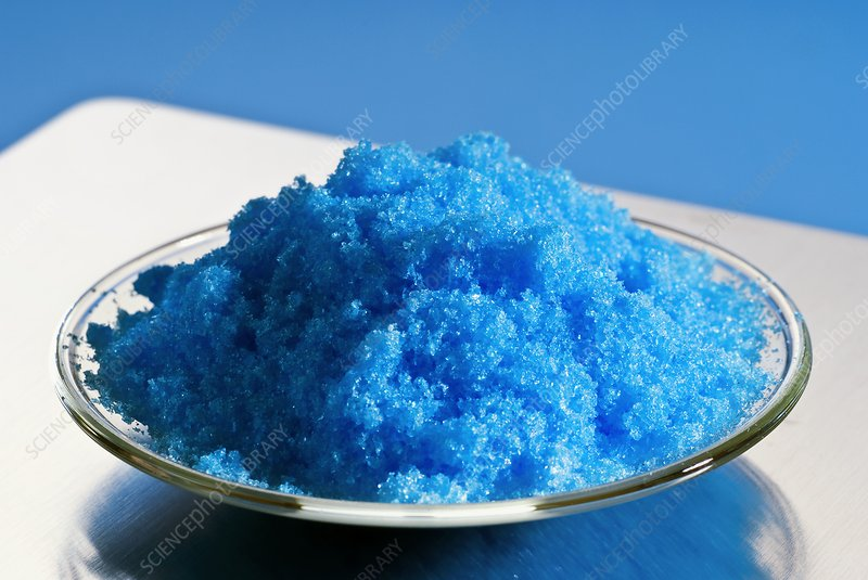 Hydrated copper (II) sulphate