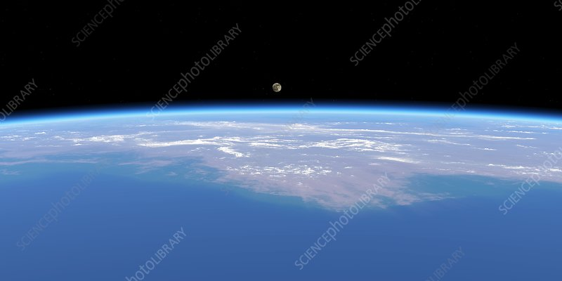 Full moon over Earth, artwork