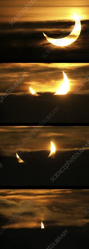 Partial solar eclipse, January 2011