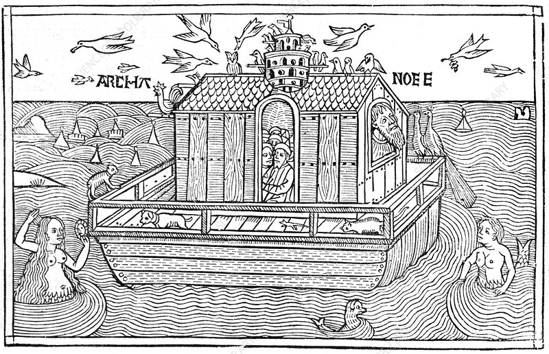 Noah's Ark, 16th-century bible