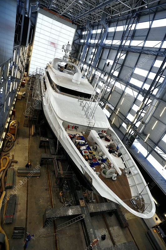 Luxury yacht shipyard