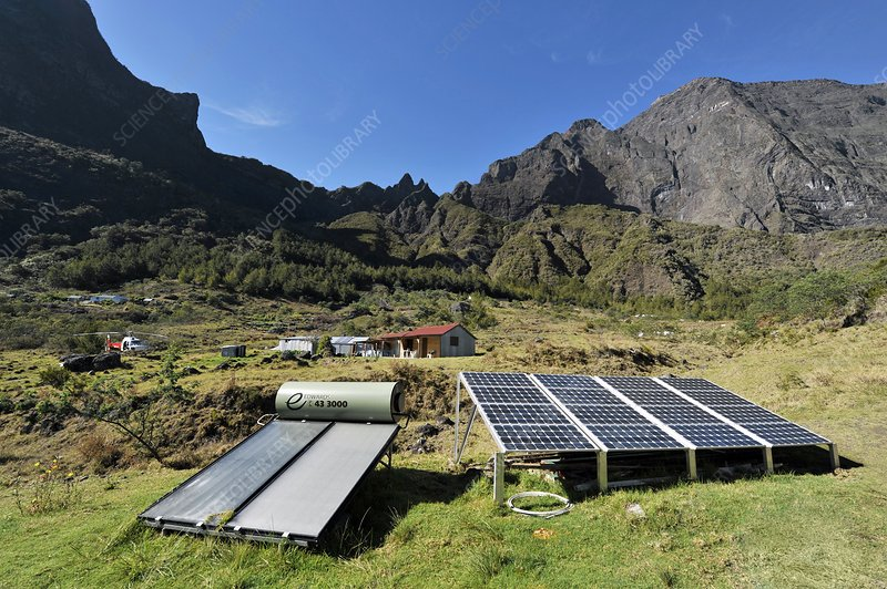 Solar power, Reunion island