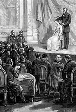 Hypnosis demonstration, 19th century