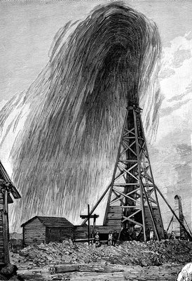 Oil well, 19th century