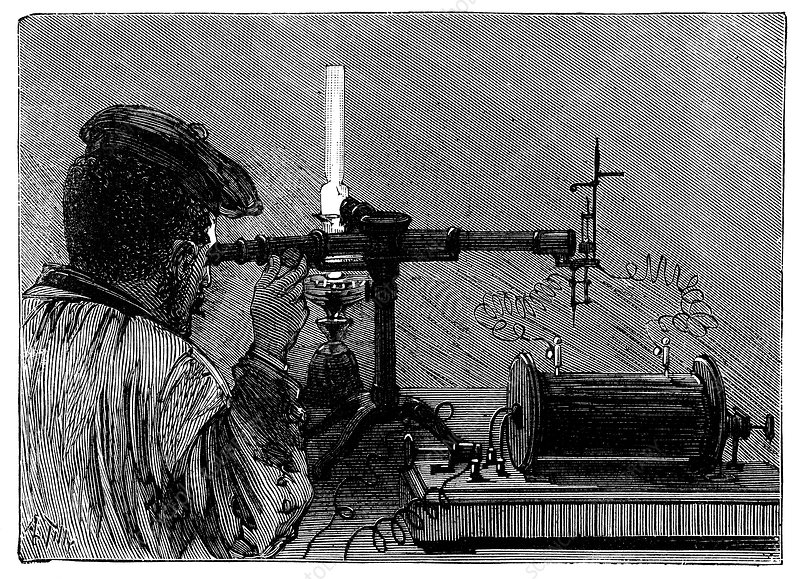 Flame spectroscopy, 19th century