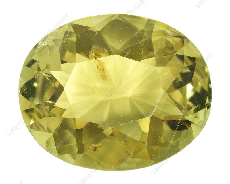 chrysoberyl yellow beryllium gemstone stock image c010