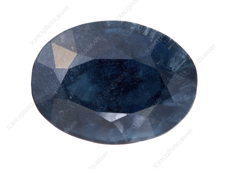 Indicolite tourmaline faceted stone