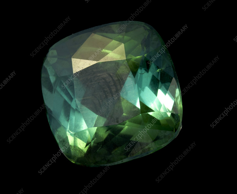 Verdite green tourmaline gemstone