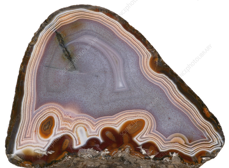 Agate stone cross section