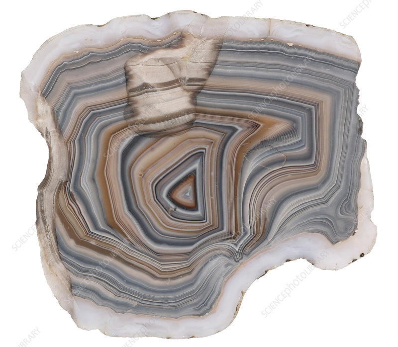 Agate stone cross section and patterns