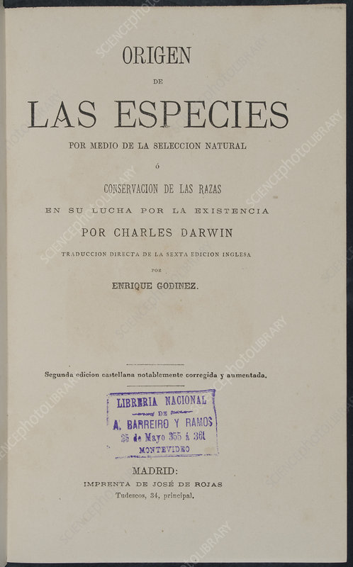 On the Origin of Species, Spanish