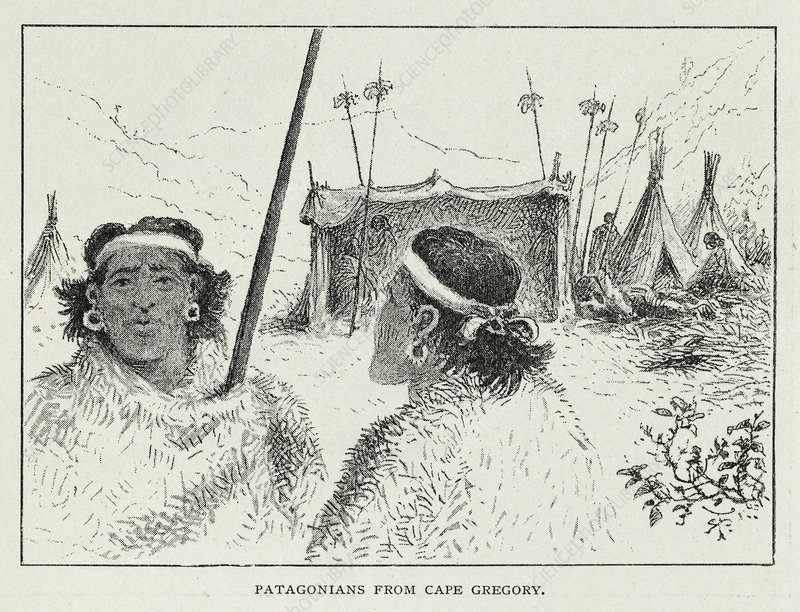 Patagonians from Cape Gregory, artwork