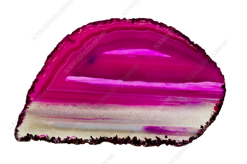 Dyed agate slice