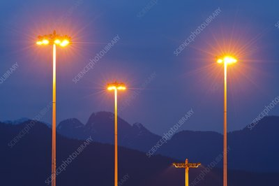 Sodium-vapour street lights