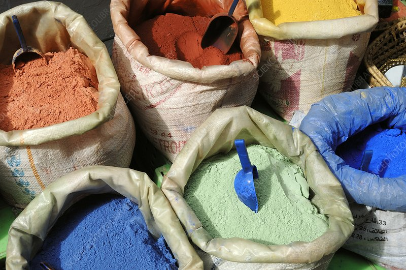 Coloured pigments, Morocco