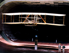 Wright Flyer replica, wind tunnel tests