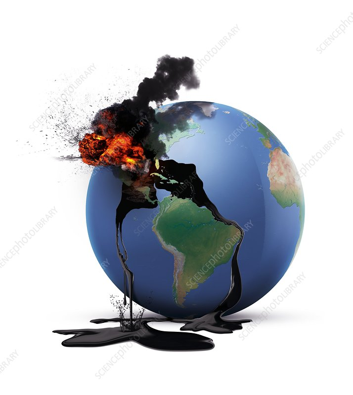 Oil disaster, conceptual image