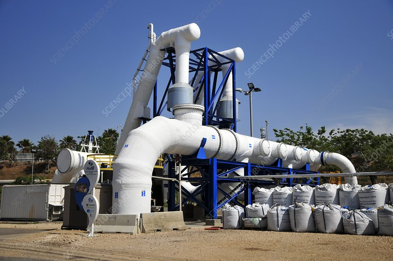 Desalination plant main water pipe