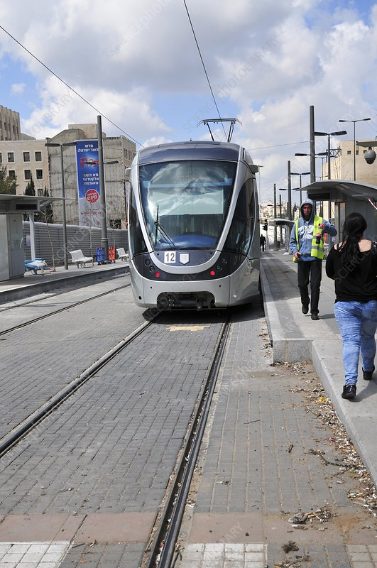 Jerusalem mass transport Light Train