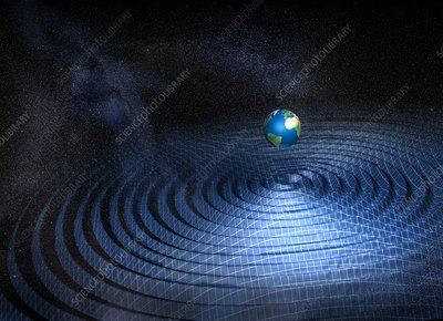 Earth and gravity waves, artwork