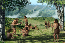 Neanderthals in summer, artwork