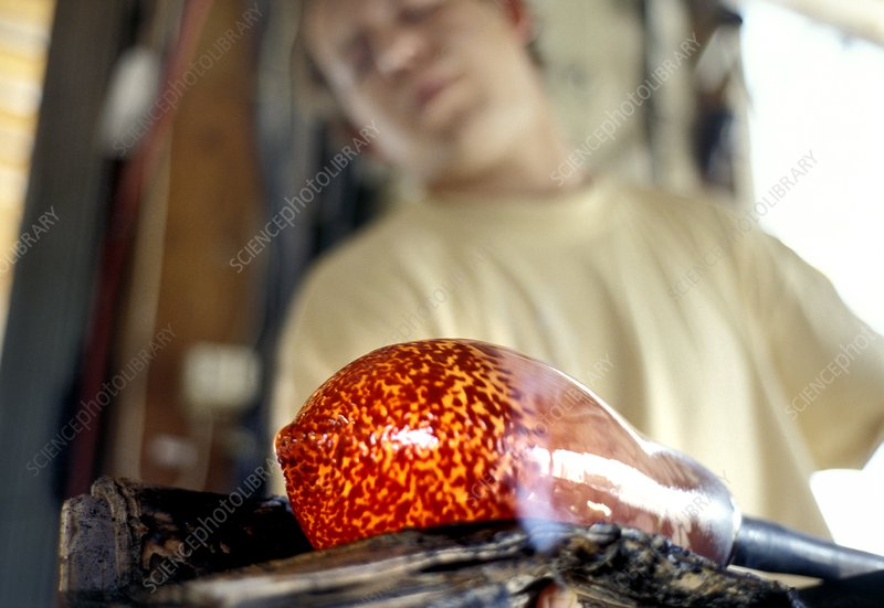 Glass blowing, France