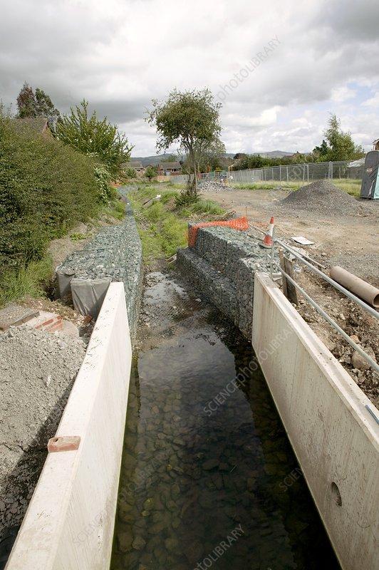 Urban flood prevention scheme