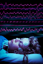 Sleep research, composite image