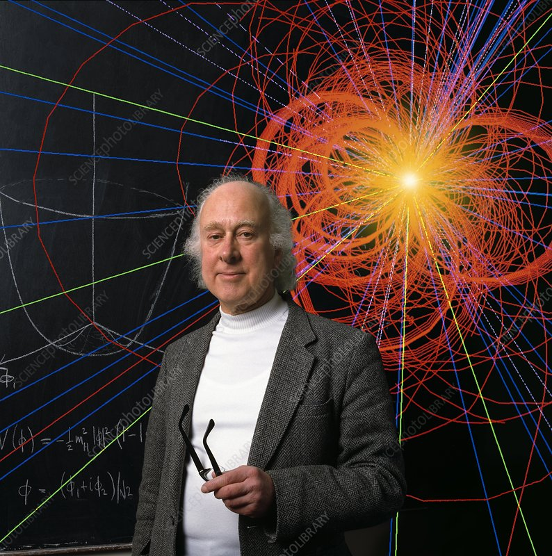 Prof. Peter Higgs with Event Simulation