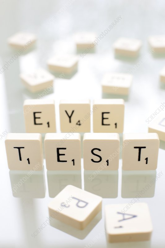 Eye test, conceptual image