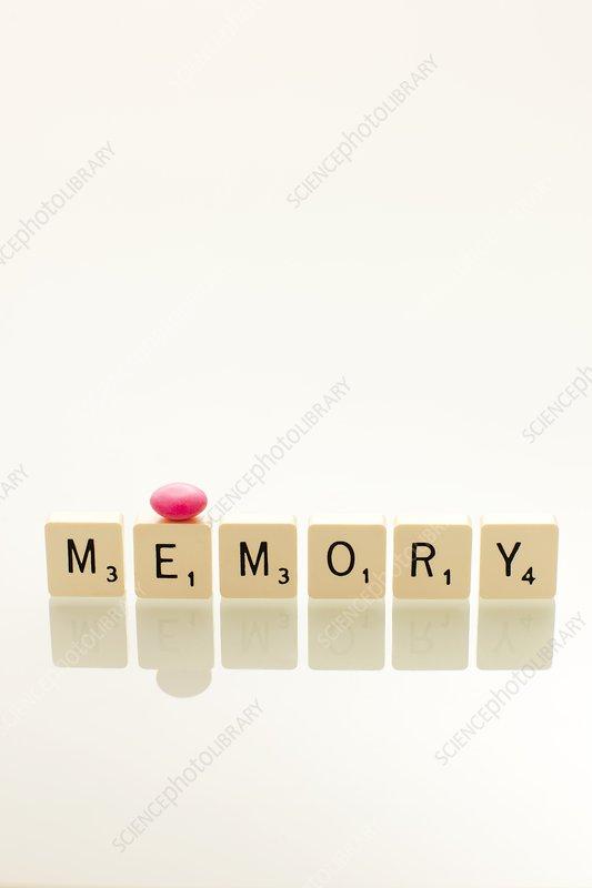 Memory drug, conceptual image