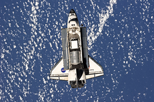 Discovery in orbit, STS-133