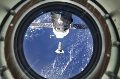 Discovery approaching the ISS, STS-133